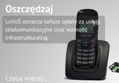 bezprzewodowy telefon biurowy z wirtualna centrala